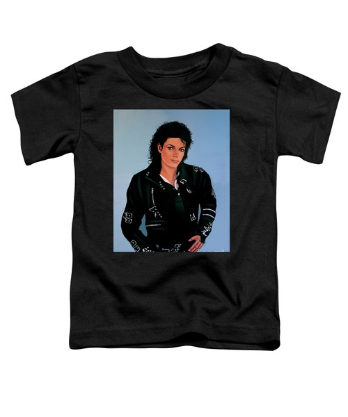 Michael Jackson Bad Toddler T-Shirt by Paul Meijering