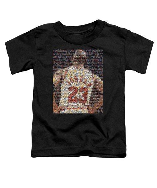 Michael Jordan Card Mosaic 2 Toddler T-Shirt