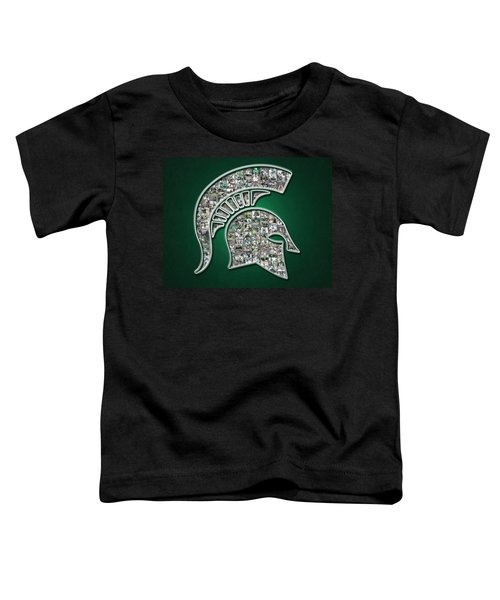 Michigan State Spartans Football Toddler T-Shirt by Fairchild Art Studio