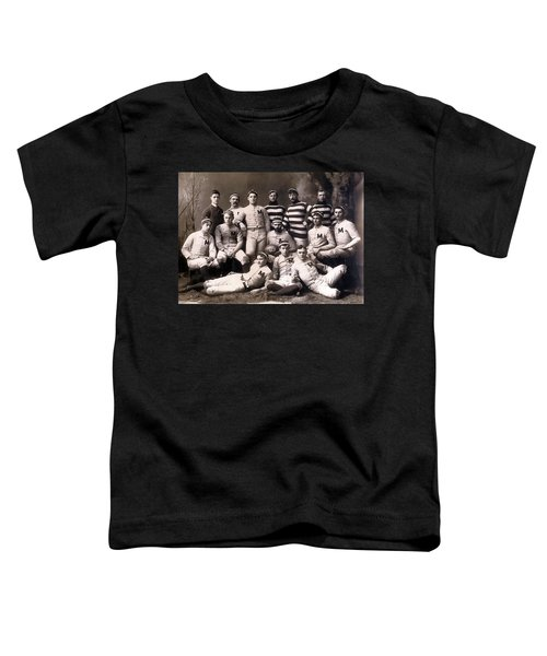 Michigan Wolverines Football Heritage 1888 Toddler T-Shirt by Daniel Hagerman