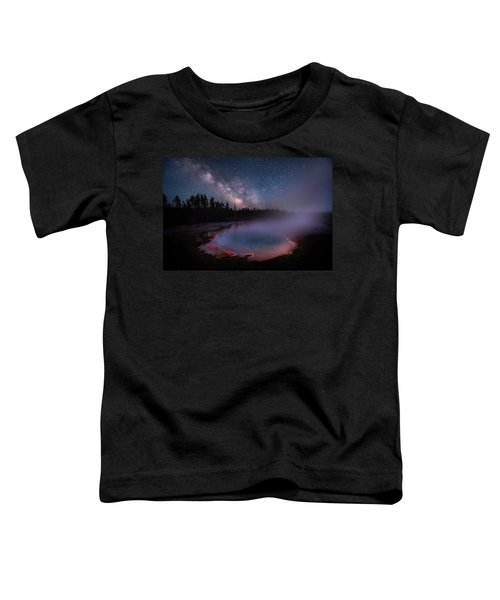 Milky Way In Yellowstone Toddler T-Shirt