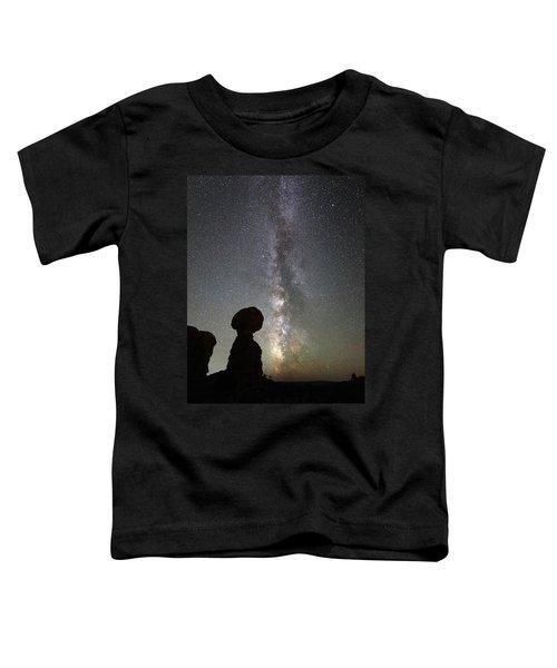 Milky Way Over Balanced Rock Toddler T-Shirt
