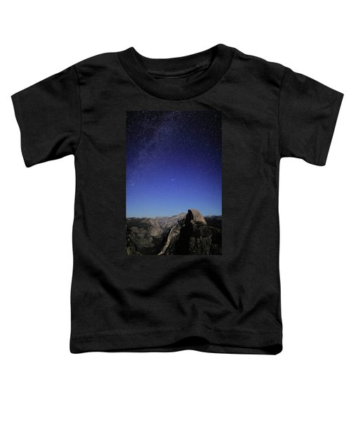 Milky Way Over Half Dome Toddler T-Shirt