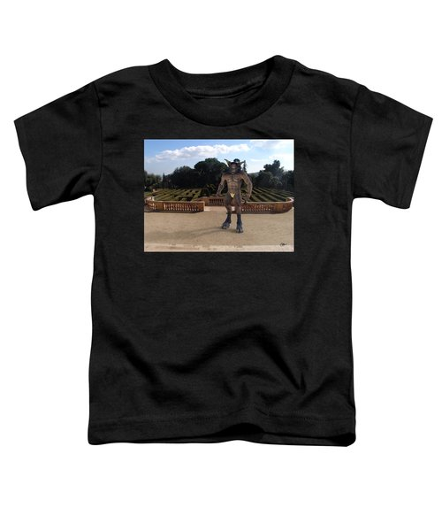 Minotaur In The Labyrinth Park Barcelona. Toddler T-Shirt