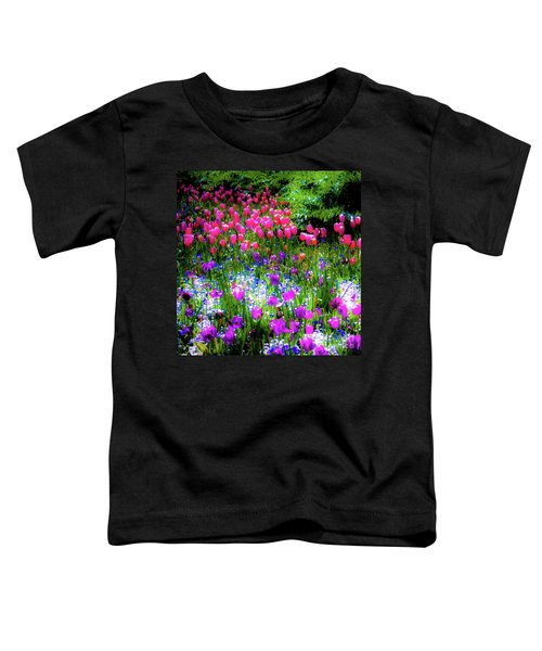 Mixed Flowers And Tulips Toddler T-Shirt