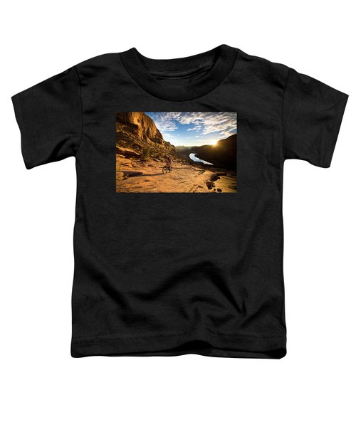 Toddler T-Shirt featuring the photograph Moab Mountain Biking 2 by Whit Richardson