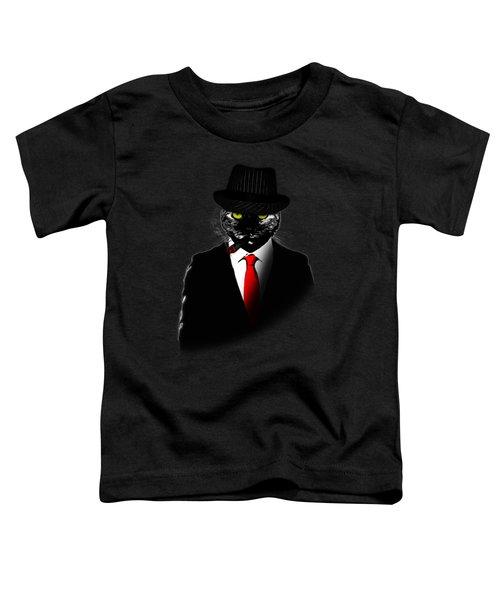 Mobster Cat Toddler T-Shirt