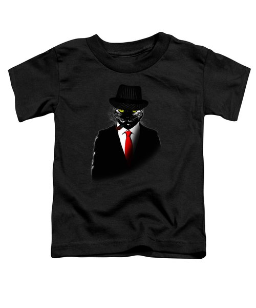 Mobster Cat Toddler T-Shirt