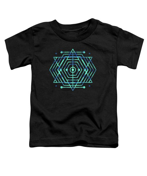 Modern Fashion Abstract Color Pattern In Blue   Green Toddler T-Shirt