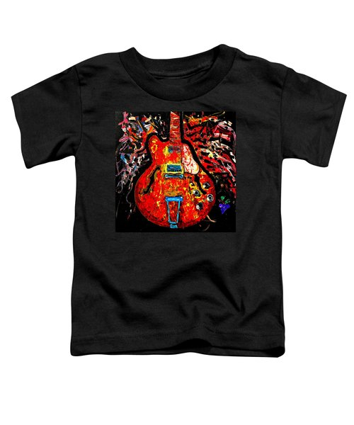 Modern Vintage Guitar Toddler T-Shirt