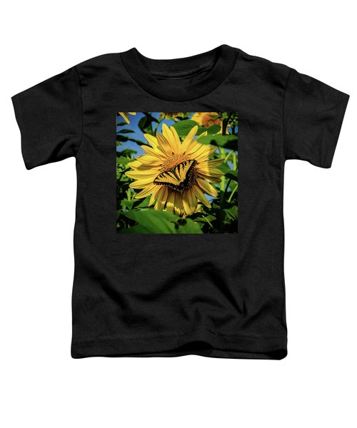 Male Eastern Tiger Swallowtail - Papilio Glaucus And Sunflower Toddler T-Shirt