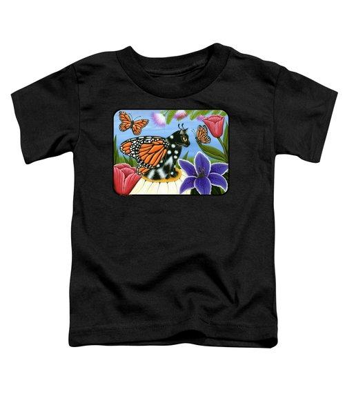 Monarch Butterfly Fairy Cat Toddler T-Shirt
