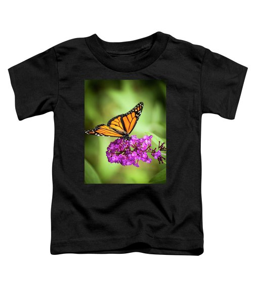 Monarch Moth On Buddleias Toddler T-Shirt