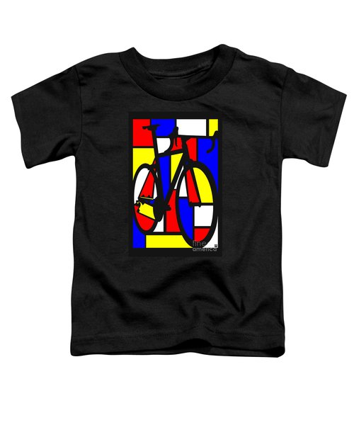 Mondrianesque Road Bike Toddler T-Shirt