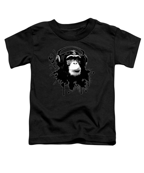 Monkey Business - Black Toddler T-Shirt by Nicklas Gustafsson