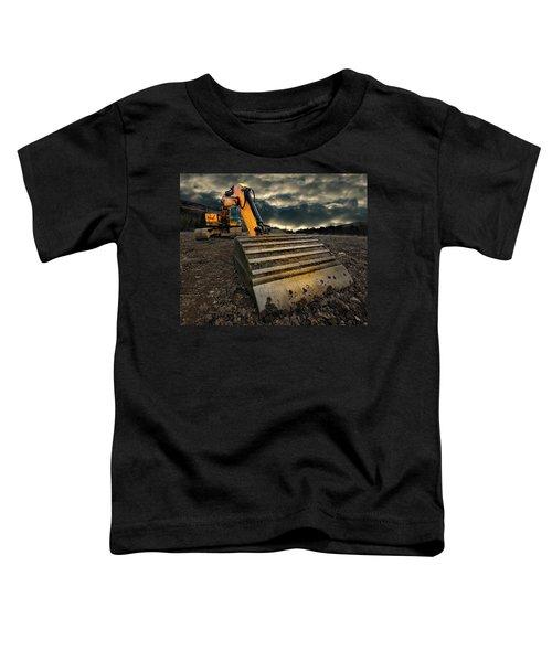 Moody Excavator Toddler T-Shirt