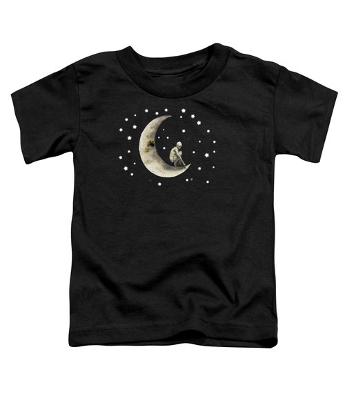 Moon And Stars T Shirt Design Toddler T-Shirt by Bellesouth Studio