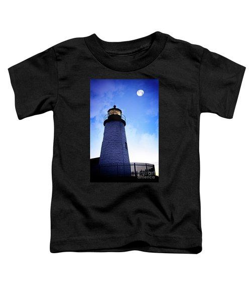 Moon Over Lighthouse Toddler T-Shirt