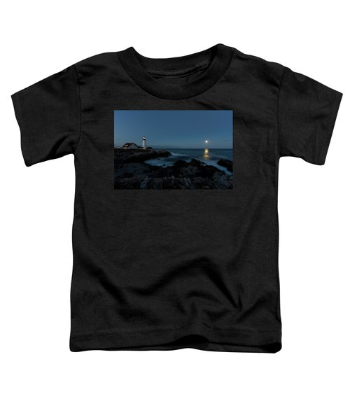 Moon Rise At Portland Headlight Toddler T-Shirt