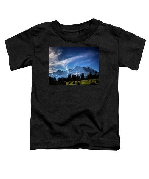 Moonlight On Mt Rainier Toddler T-Shirt