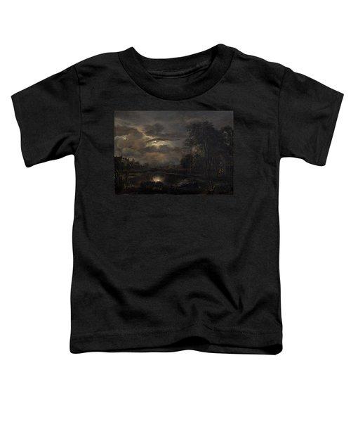 Moonlit Landscape With Bridge Toddler T-Shirt