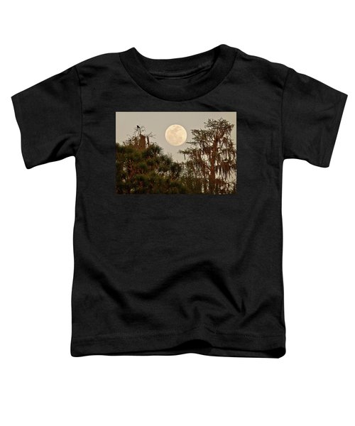 Moonrise Over Southern Pines Toddler T-Shirt