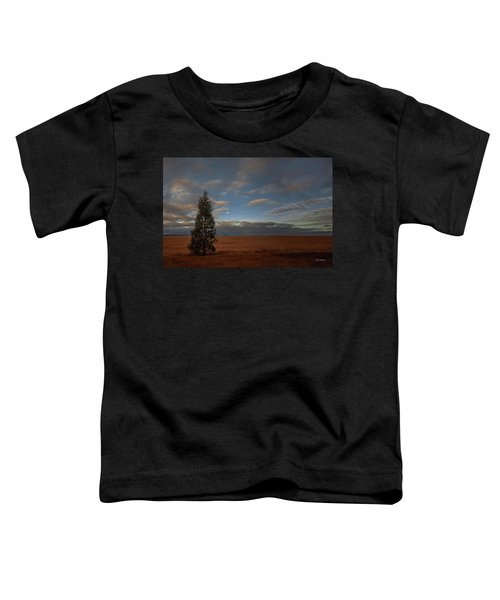 Moonset  In A Large Morning Sky Toddler T-Shirt