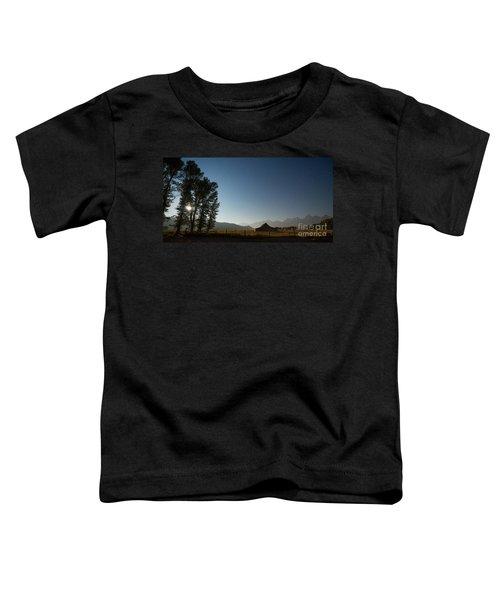 Mormon Row Under The Moon Light Toddler T-Shirt