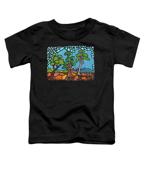 Mosaic Trees Toddler T-Shirt by Anthony Mwangi