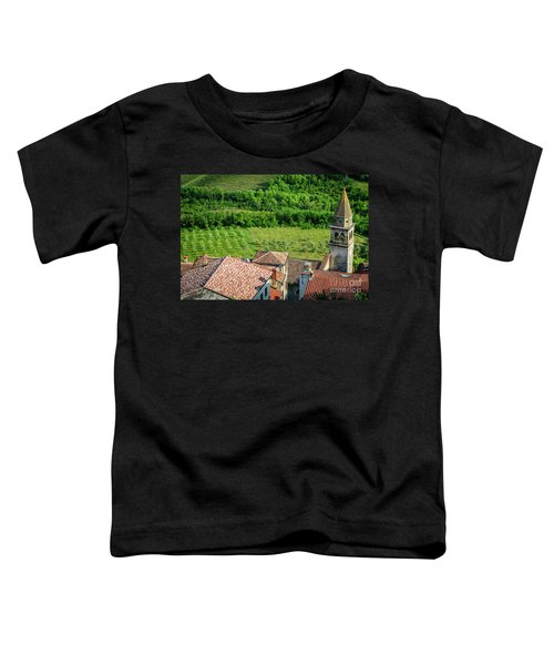 Motovun Istrian Hill Town - A View From The Ramparts, Istria, Croatia Toddler T-Shirt