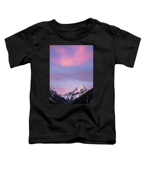 Mount Cook Sunset Toddler T-Shirt