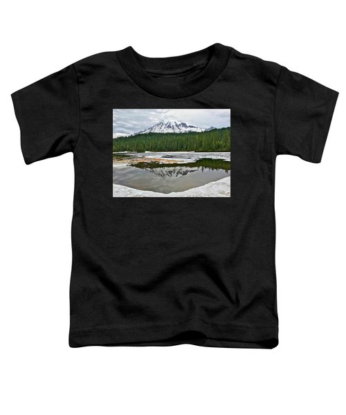 Mount Rainier From Reflection Lakes Toddler T-Shirt