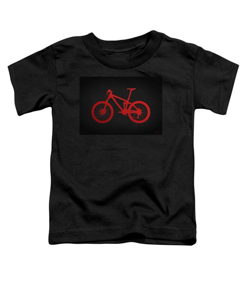 Mountain Bike - Red On Black Toddler T-Shirt