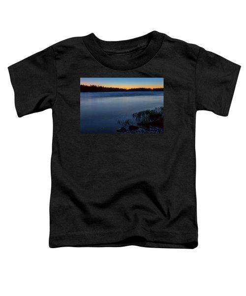 Toddler T-Shirt featuring the photograph Mountain Lake Glow by James BO Insogna