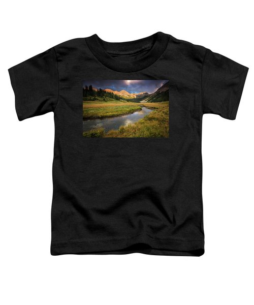 Toddler T-Shirt featuring the photograph Mountain Light by Whit Richardson