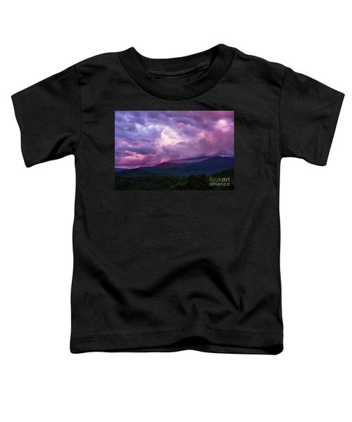 Mountain Sunset In The East Toddler T-Shirt