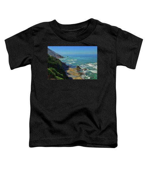 Toddler T-Shirt featuring the photograph Mountains Meet The Sea by Greg Norrell