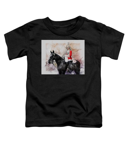 Mounted Household Cavalry Soldier On Guard Duty In Whitehall Lon Toddler T-Shirt