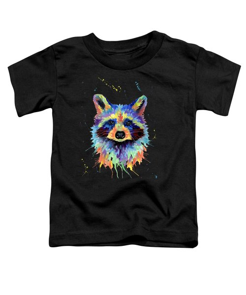 Multicolor Raccoon Toddler T-Shirt