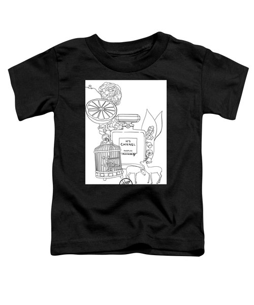 Toddler T-Shirt featuring the digital art N0.5 by ReInVintaged