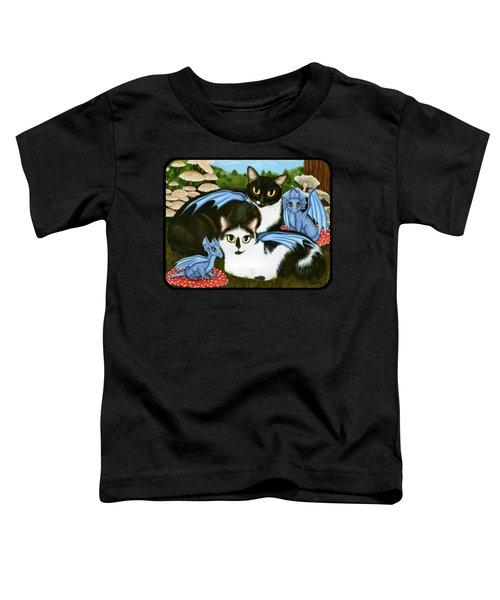 Nami And Rookia's Dragons - Tuxedo Cats Toddler T-Shirt
