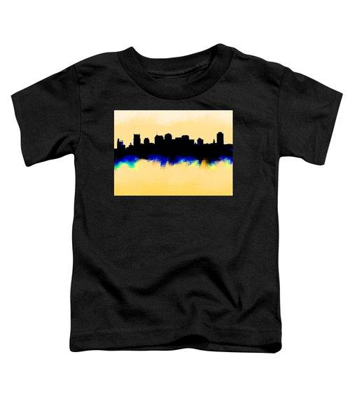 Nashville  Skyline  Toddler T-Shirt by Enki Art