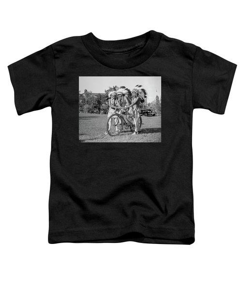 Native Americans With Bicycle Toddler T-Shirt