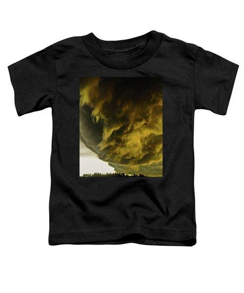 Nebraska Supercell, Arcus, Shelf Cloud, Remastered 018 Toddler T-Shirt