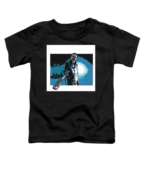 Toddler T-Shirt featuring the digital art Negan by Antonio Romero