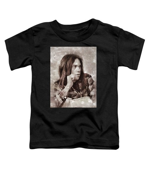 Neil Young By Mary Bassett Toddler T-Shirt