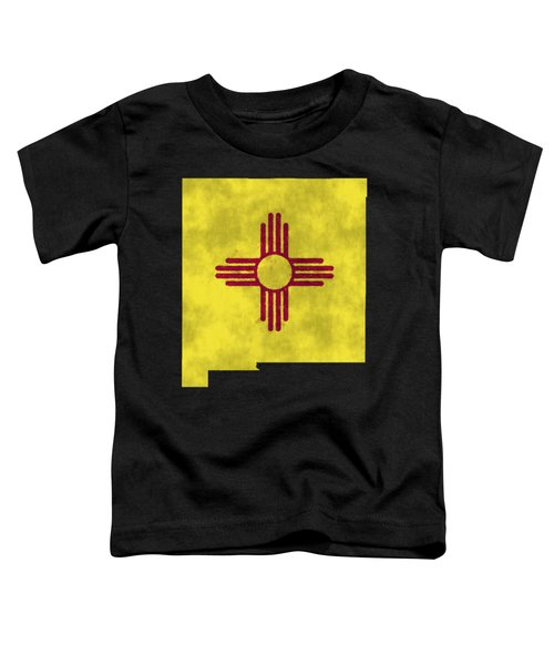 New Mexico Map Art With Flag Design Toddler T-Shirt