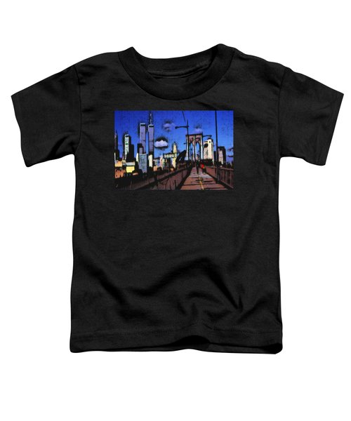 New York Blue - Modern Art Painting Toddler T-Shirt