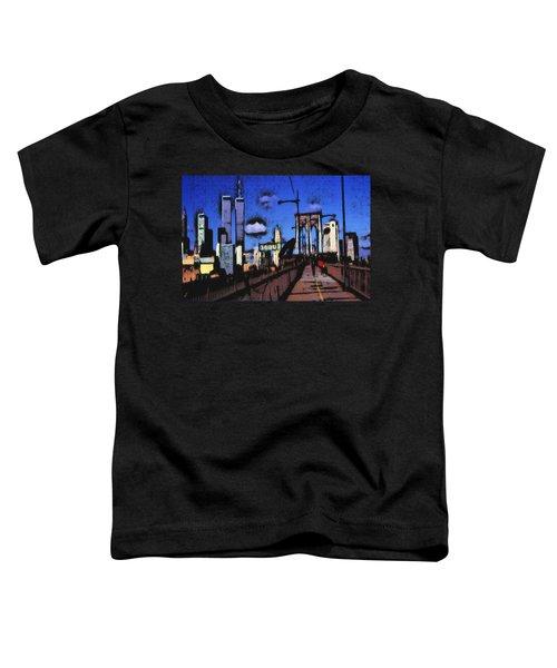 New York Blue - Modern Art Painting Toddler T-Shirt