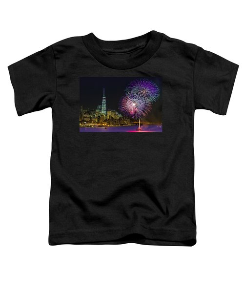 New York City Summer Fireworks Toddler T-Shirt